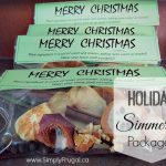 Warm up your house with the scent of Christmas with these Holiday Simmering Packages!