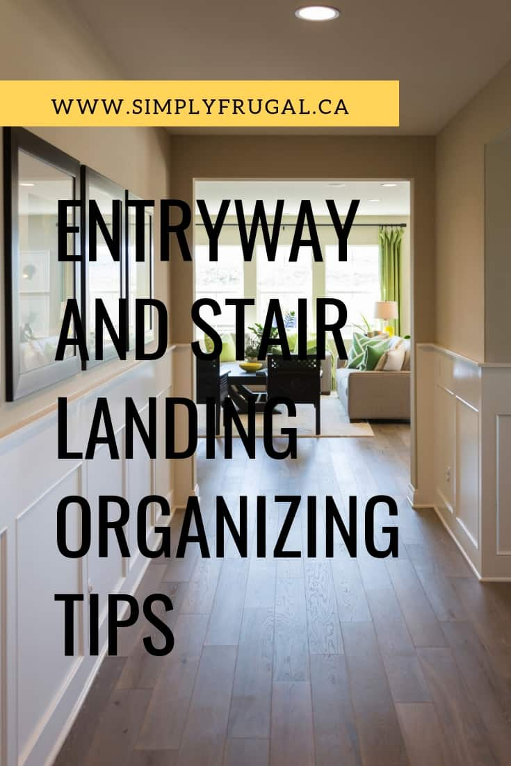 Here are some entryway and stair landing organizing tips that are sure to help keep you more organized!