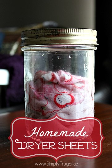 How to make homemade dryer sheets without using chemicals!
