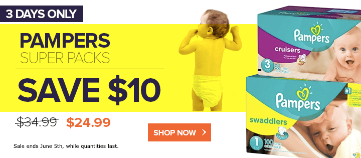 pampers sale