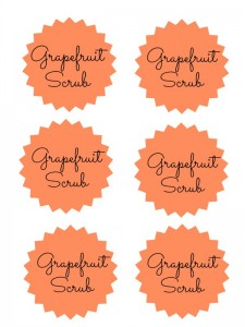 Grapefruit Scrub labels