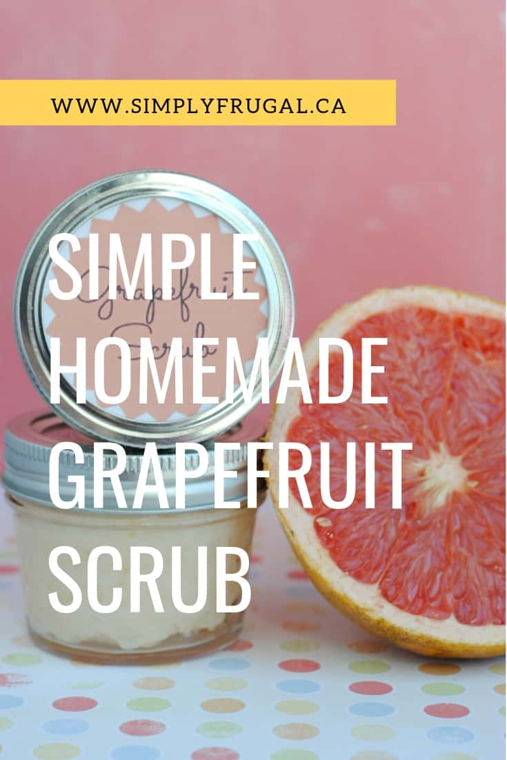 Try this deliciously scented, easy to make and budget friendly homemade grapefruit scrub to freshen up your skin!