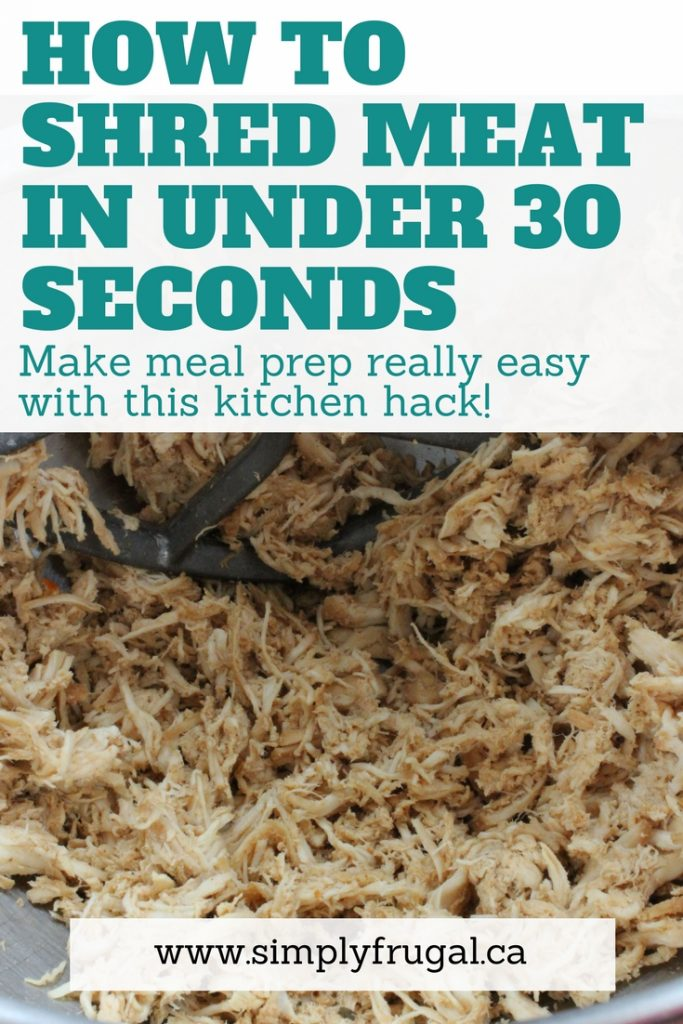 Learn how to shred meat in under 30 seconds using your stand mixer or hand mixer!