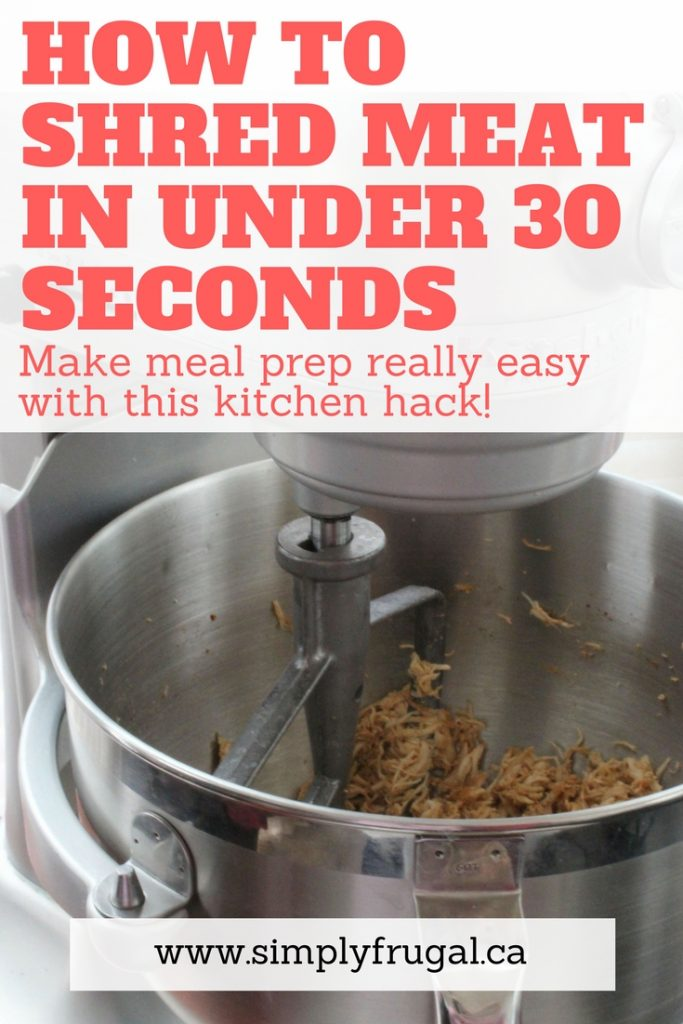 Learn how to shred meat in under 30 seconds using your stand mixer!