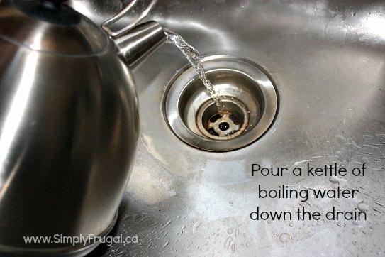 drain water