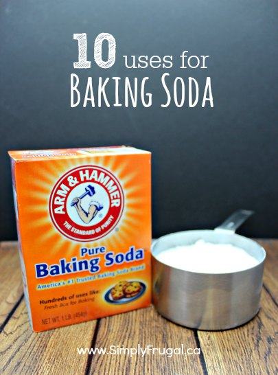 Baking soda is so versatile that I have a list of 10 unique uses for it! It's not just for baking! #bakingsoda #simplyfrugal