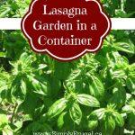 Create a Lasagna Garden in a Container