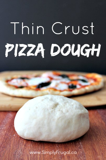 Easy Thin Crust Pizza Dough Recipe! Pizza night doesn't get any easier than this!