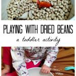 A Toddler Activity: Playing with Dried Beans