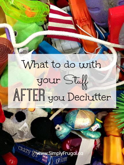 What to do with your stuff After you Declutter. Organizing tips.