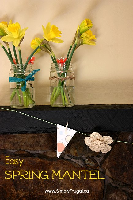 easy spring mantel 2