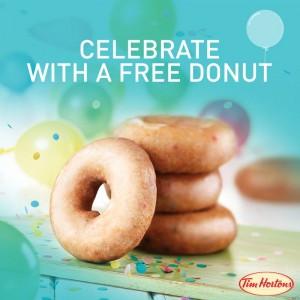 tim hortons free donut