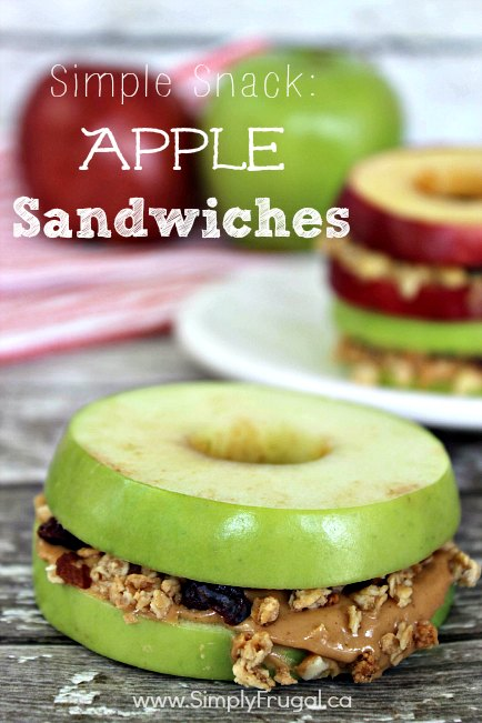 Simple Snack Apple Sandwiches