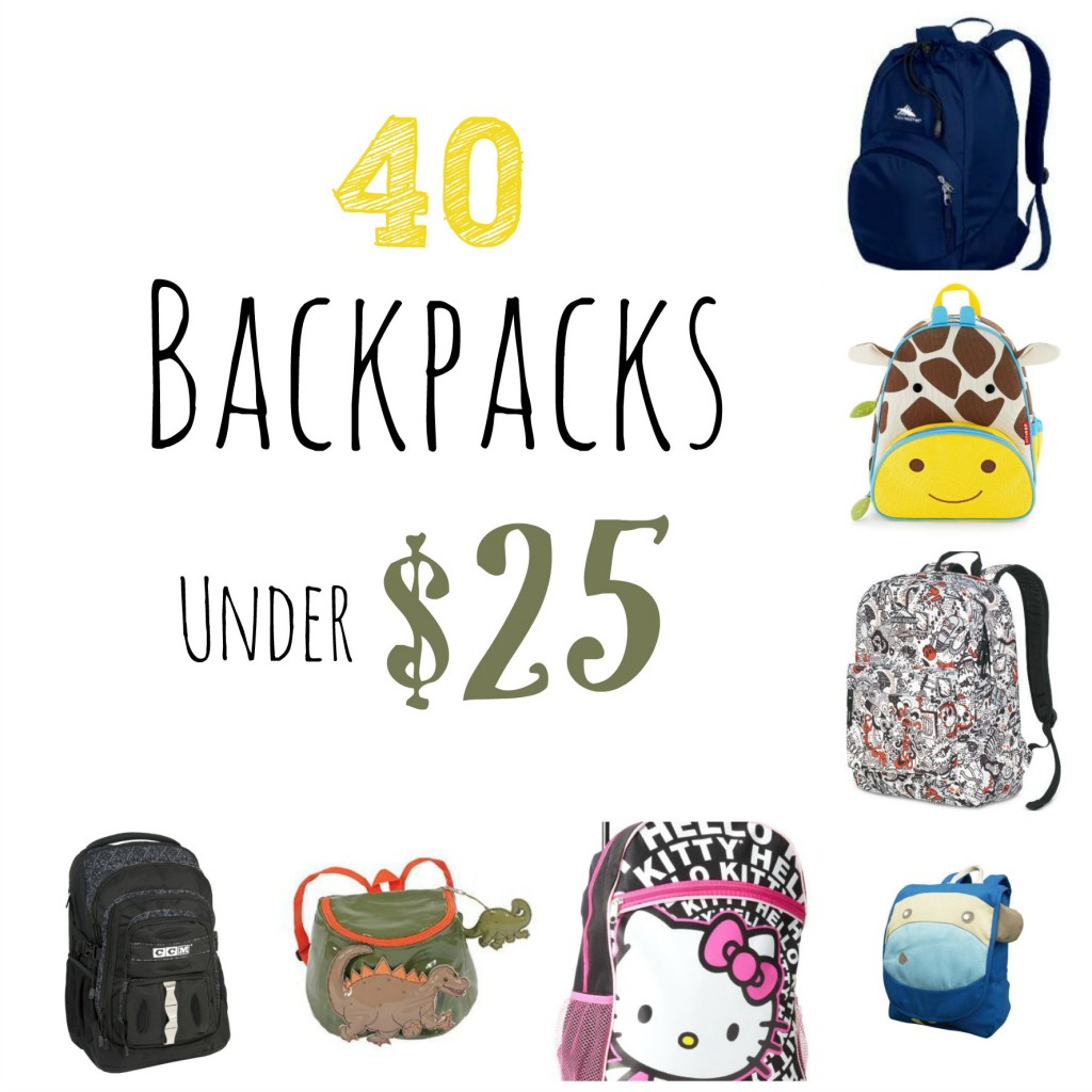 40 backpacks under 25