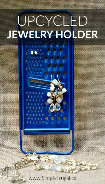If you're looking for a really easy and cheap upcycling project, look no further than this Upcycled Jewelry Holder!