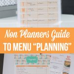 Non Planner's Guide to Menu Planning