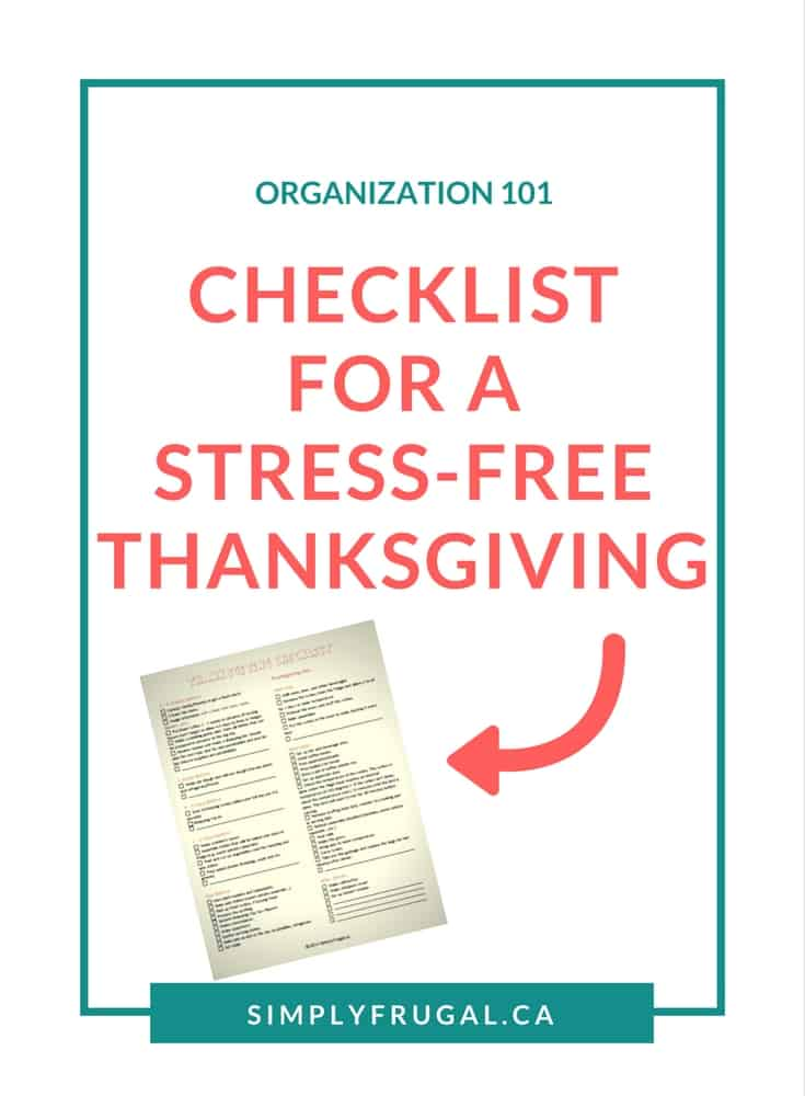 Thanksgiving Checklist, Stress-free thanksgiving