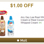 Gay Lea Coupon for $1 off Real Whipped Cream or Coconut Whipped Cream