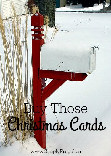 Buy those Christmas Cards