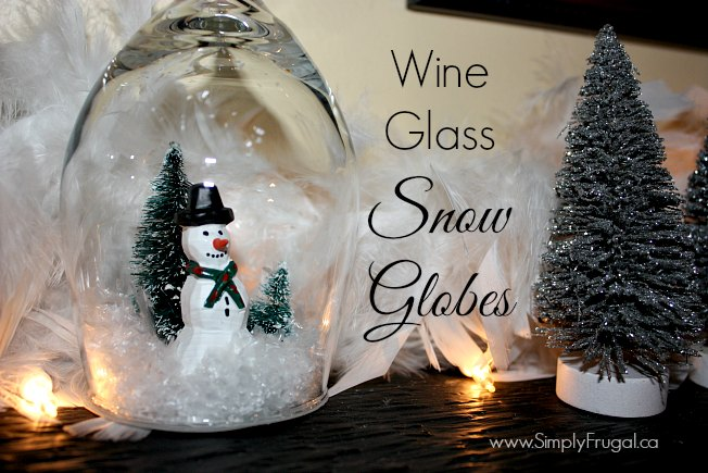 Create these beautiful and simple DIY wine glass snow globes with just a few supplies that will fit in any Christmas budget!