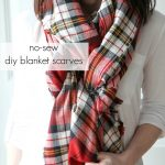A Homemade Christmas Gift: No Sew Blanket Scarf