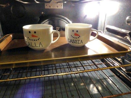 mugs oven