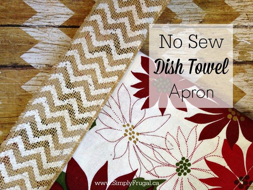 no sew dish towel apron 2