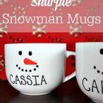 A Homemade Christmas Gift: DIY Sharpie Snowman Mugs