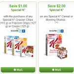 New Kellogg's Special K Coupons from Websaver