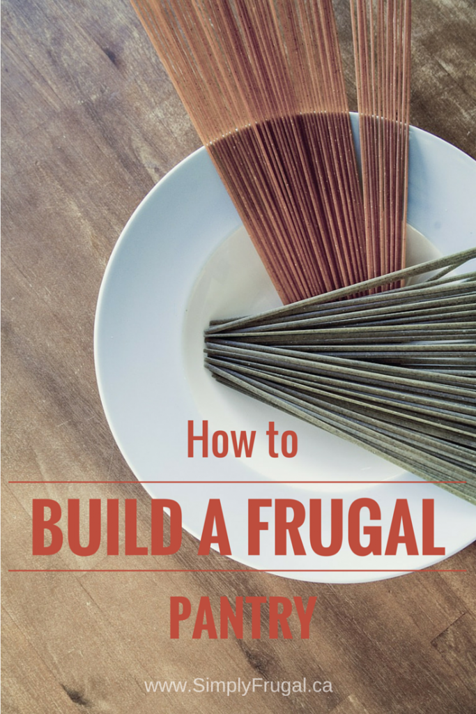Build a Frugal Pantry - Building a frugal pantry is simple, and as you will see, it doesn't require you breaking the bank to get started.