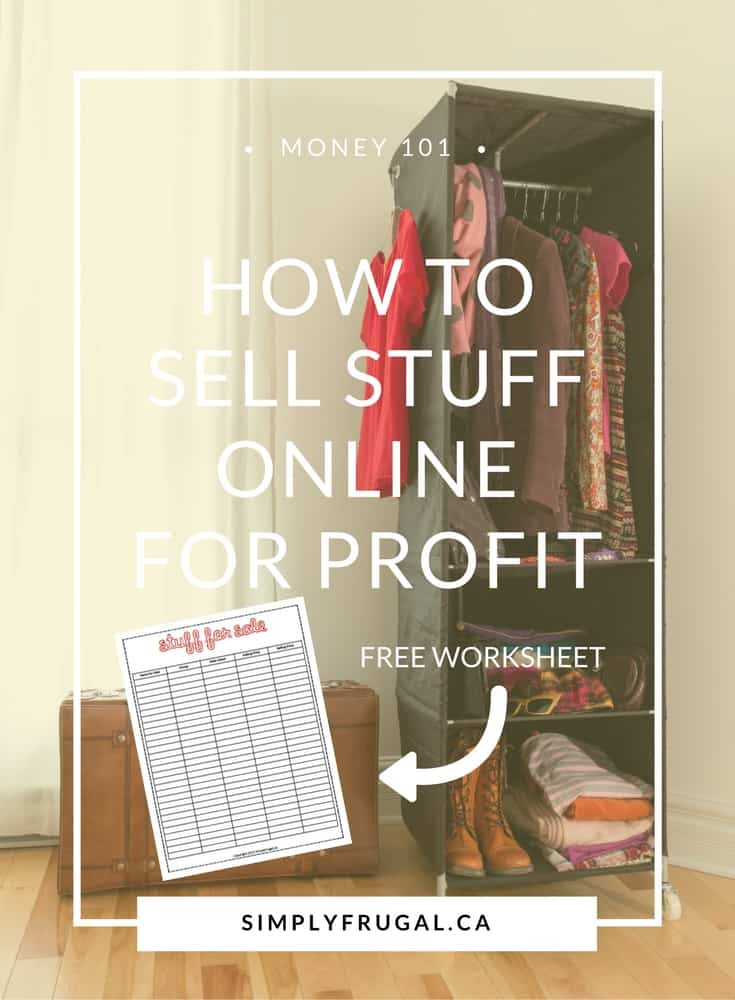 How to sell stuff online for profit. Income earning ideas.