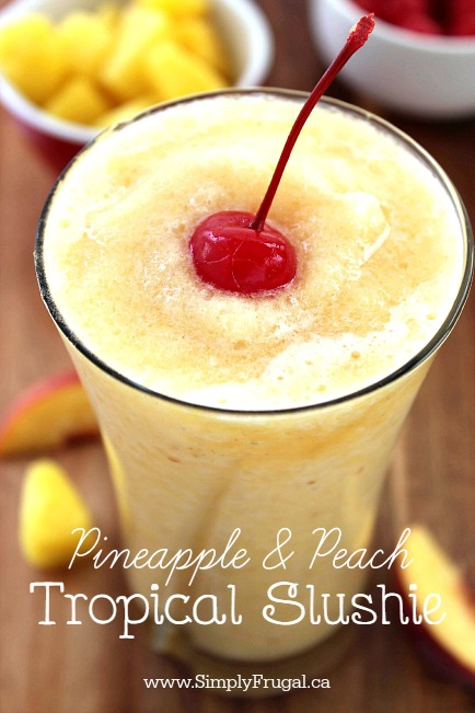 Pineapple and Peach Slushie