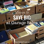 52 Ways To Save: Learn to Save Big At Yard Sales (Week 16)