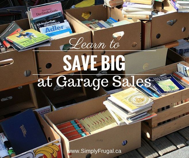 Learn to Save Big at Garage Sales