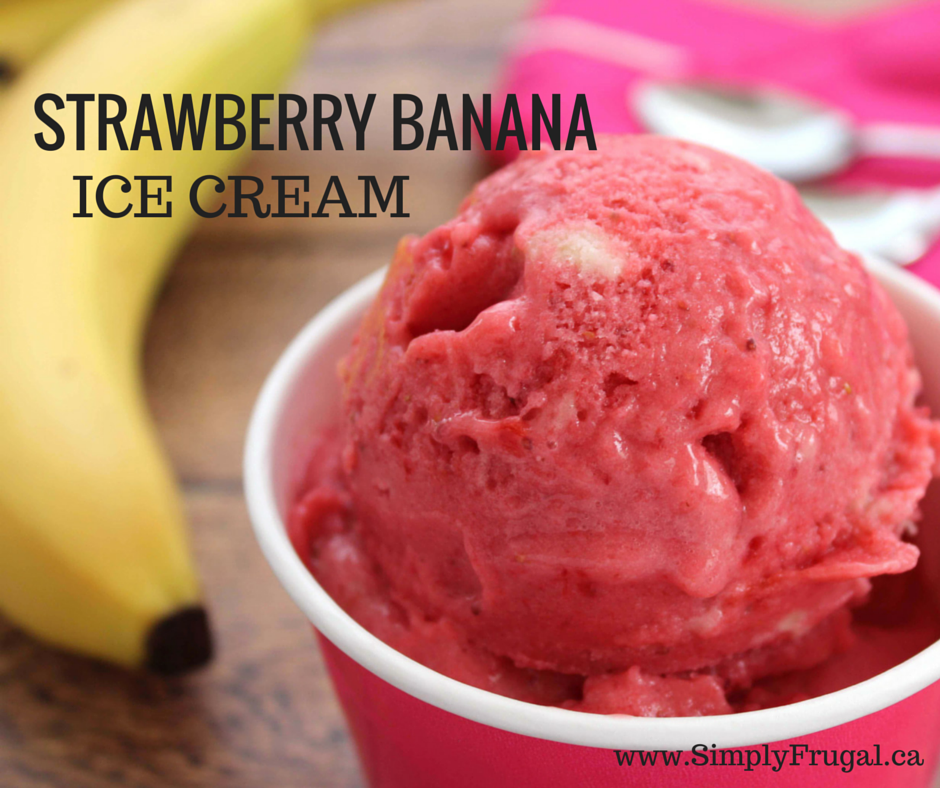 With just 3 ingredients you can make this super delicious non-dairy Strawberry Banana Ice Cream in a flash!