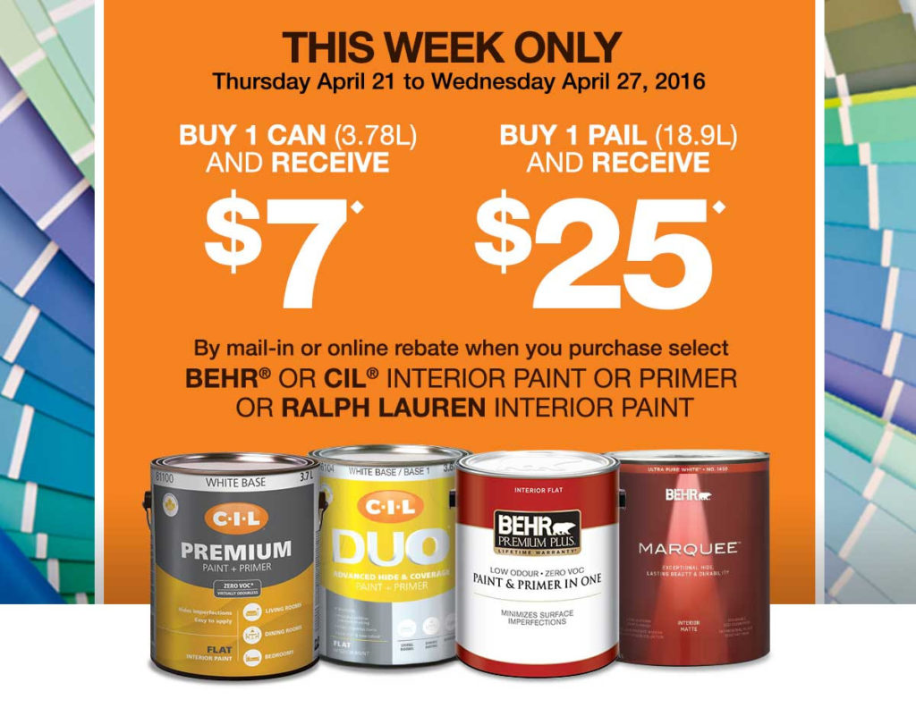 Home Depot Canada Get Up To 25 Back By Rebate When You Buy Paint