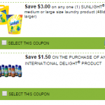 New SmartSource Coupons: Save on International Delight and Sunlight