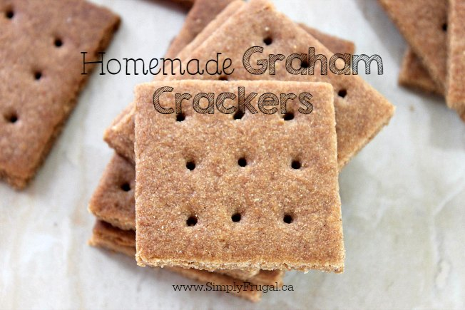 These Homemade Graham Crackers are super simple and so much better than store bought. You can enjoy them by themselves for a snack or even make some homemade s'mores.