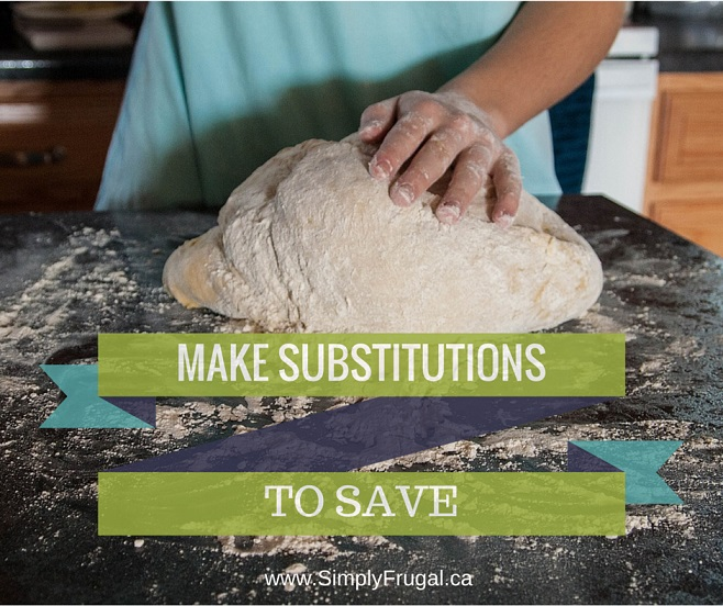 Make Substitutions to Save