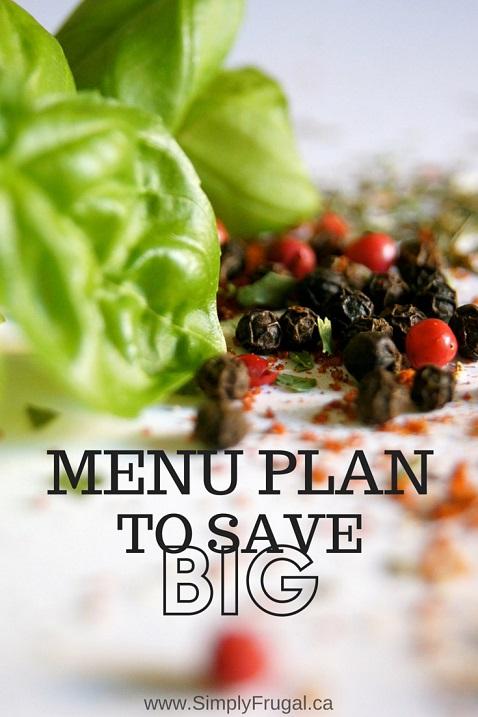 Menu Plan to Save Big