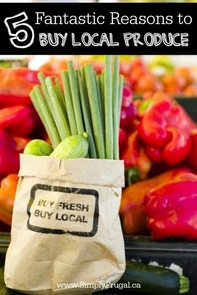Wandering the farmer's market makes for a perfect morning or afternoon and supporting local farmers is a great bonus.  Here are 5 fantastic reasons to buy local produce.