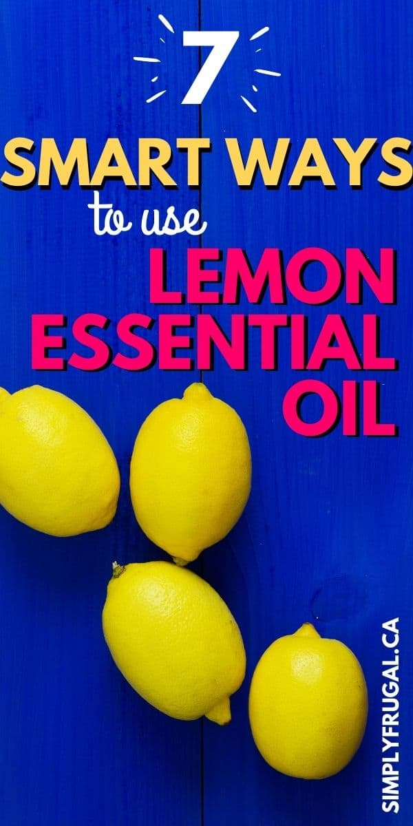 Did you know that lemon essential oil not only smells fantastic, but is useful for many household tasks as well? Read on for 7 ways to use lemon oil and make your life just a little bit easier!