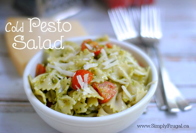 This Cold Pesto Salad is sure to please young and young at heart at all your summer gatherings!