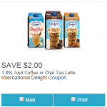 Coupon for $2 off International Delight Iced Beverages