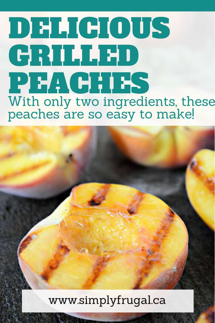 You've got to try these Grilled Peaches. They're delicious and ridiculously easy to make! #bbq #grill #peaches #dessert