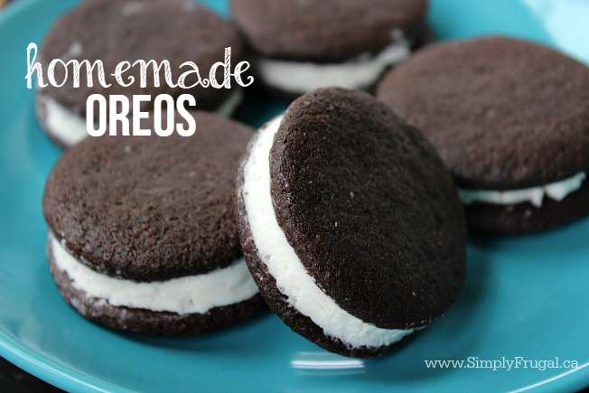 If you are fan of the famous Oreo cookie, you will love this Homemade Oreo Cookie recipe. The filling is the to die for! No need to buy store bought, you can save some money and make these at home.