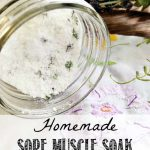 Homemade Sore Muscle Soak