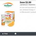 New Jamieson Coupon for $2 off Energy C or Effervescent C