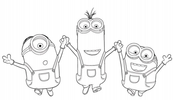 Free Coloring Pages Of Working Minions
