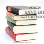 52 Ways To Save: Save Big On School Textbooks